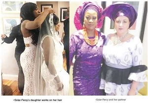 53-Year-Old Nigerian Woman Marries Her Oyinbo Lesbian Partner In US (Photos)
